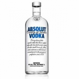VODKA ABSOLUT COUNTRY OF SWEDEN IMPORTED 1L