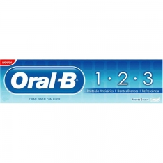 CREME DENTAL ORAL B 123 ANTICARIES 70G