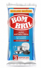 ESPONJA BOMBRIL MULTIUSO ANTIBACTERIA 3UND